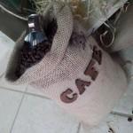 Saco de grãos de café