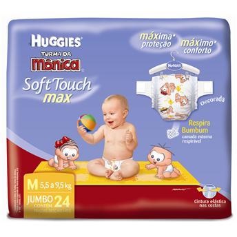 fralda huggies turma da monica soft touch max